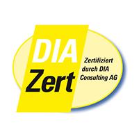 Siegel für DIA-Zertifizierung durch DIA Consulting AG