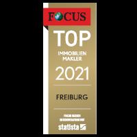 Siegel von FOCUS für Top-Immobilienmakler in Freiburg 2020